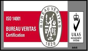 ISO 14001-2015 Certification logo